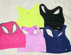 5 womens sz M CHAMPION sports bras
